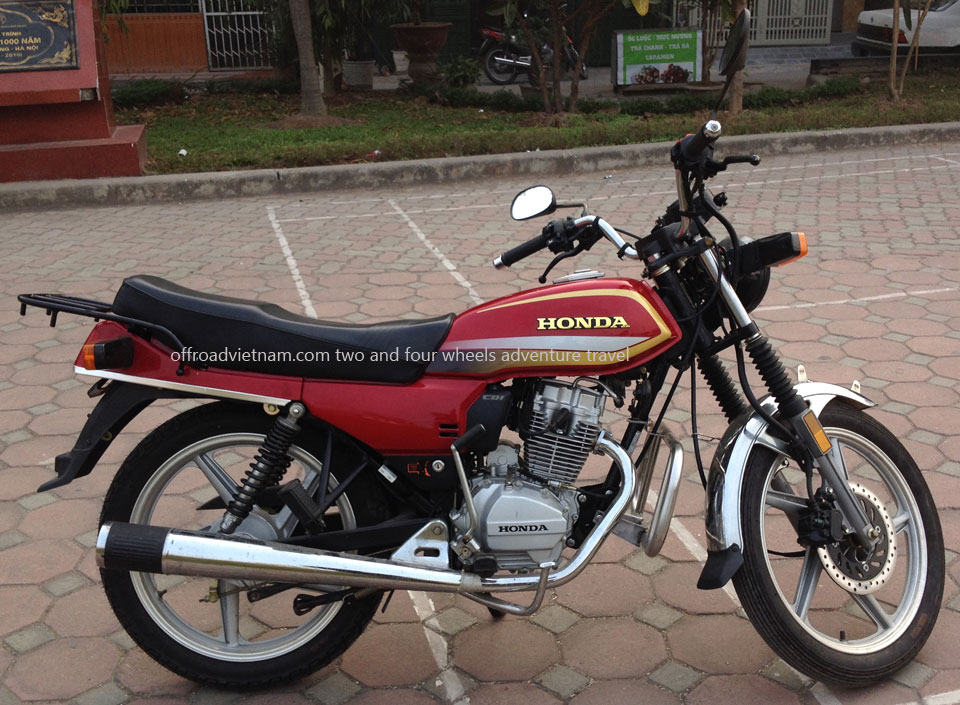 Vietnam Off-road Motorbike Tours - Our Bikes: Honda CGL 125 125cc 2014 model