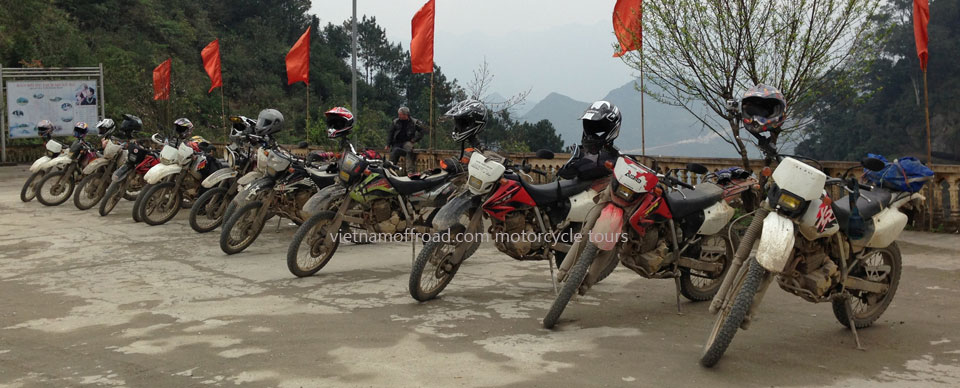 Vietnam Off-road Motorbike Tours - Our Bikes: Honda enduro XR250 and XR250 Baja 250cc