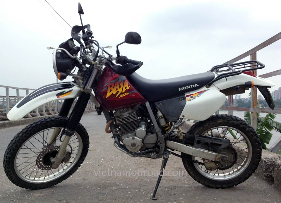 Hanoi motorbikes for rent: Honda dirt bike Baja XR 250cc