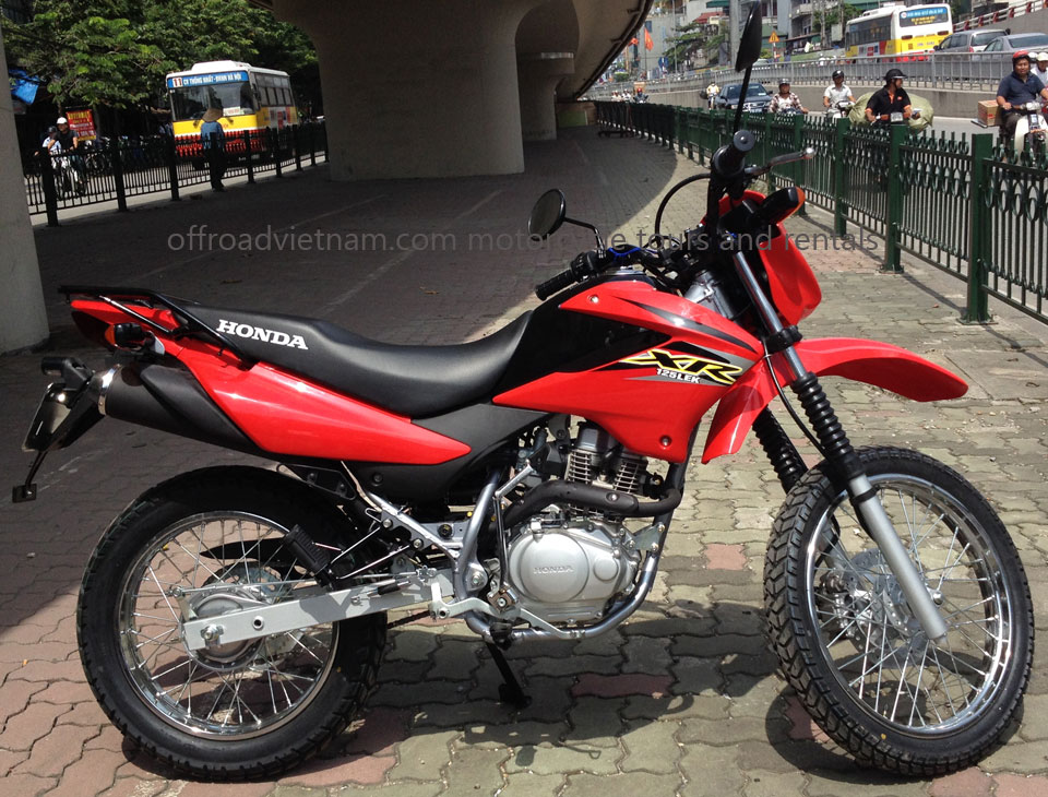 Hanoi motorbikes for rent: Honda offroad bike XR125L 125cc