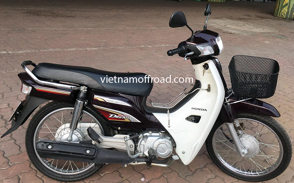 Vietnam Off-road Motorbike Tours - Our Bikes: Honda Supere Dream/Cub semi-automatic 110cc scooter 2013-2015 models