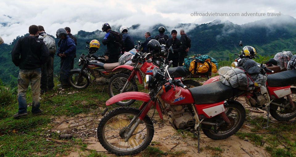 Central North Vietnam trail road motorcycle tours in 6 days. 6 Days NorthCentre Vietnam