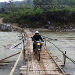 Offroad Vietnam Adventure Travel's off-road motorbike and motorcycle tours and scooter rentals, starting from Hanoi and ride Northern Vietnam mountains. Bamboo bridge is used when the water is low. This is only possible on a motorbike trip