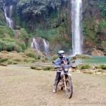 Vietnam Offroad's motorbike tours. Ban Gioc waterfalls.