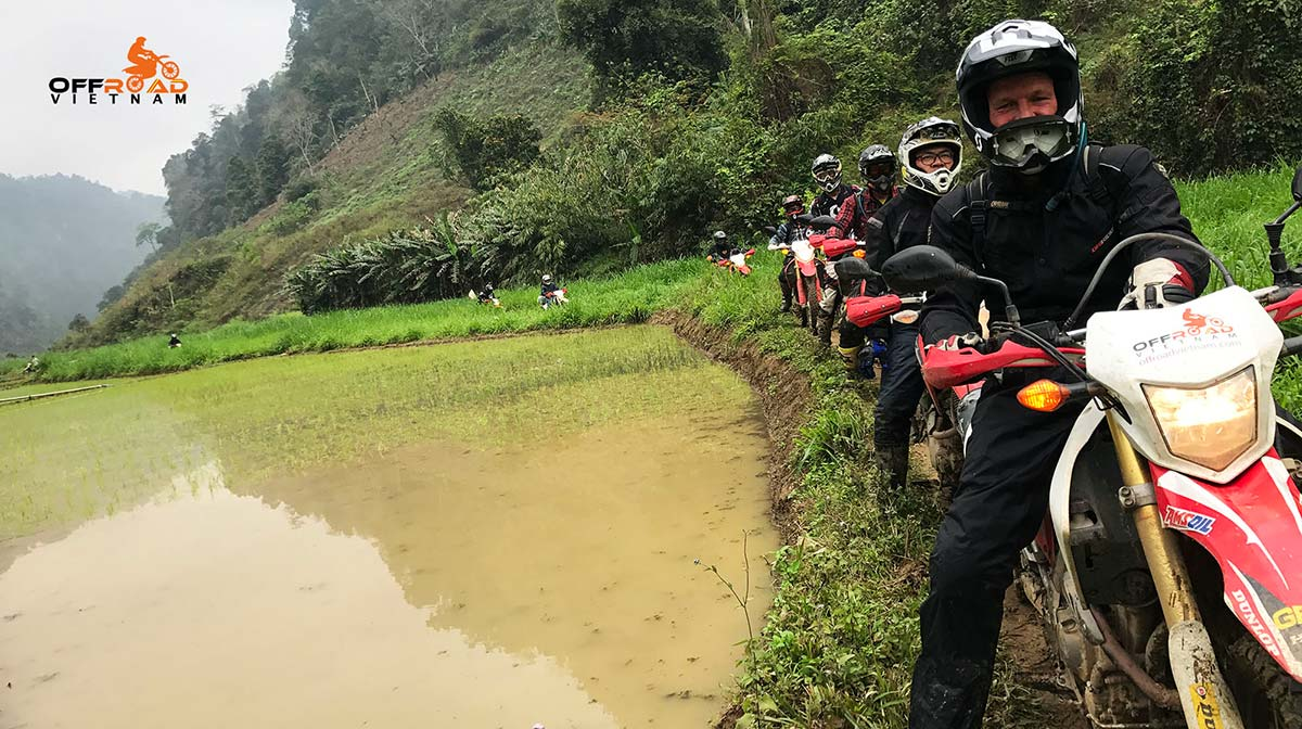 Vietnam off road motorbike tours by Honda CRF250L dual enduro, from Hanoi.